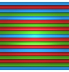 RGB Striped Seamless Pattern Background vector image vector image