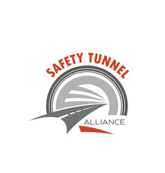 road tunnel icon for safety traffic emblem design vector image