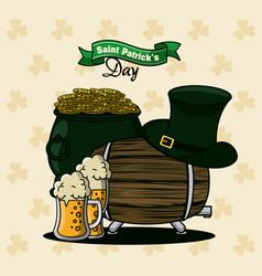 saint patricks day cartoon card vector image