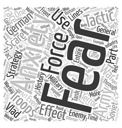 Scare tactics and the art of war text background vector