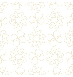 Seamless pattern of light beige leaves or hearts vector image