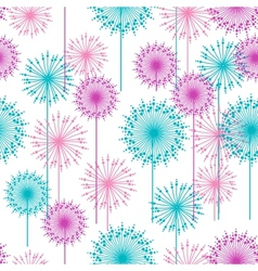 Seamless pattern with abstract dehlia flowers vector image