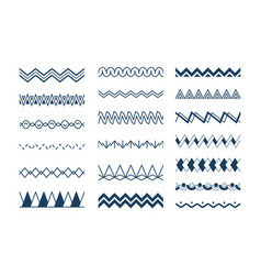 seamless waves abstract geometrical zigzag shapes vector image