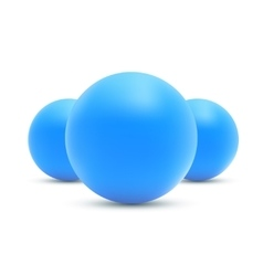 Set of realistic Blue balls Blue sphere vector image