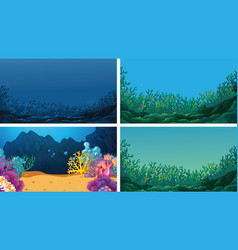 set scenes in nature setting vector image