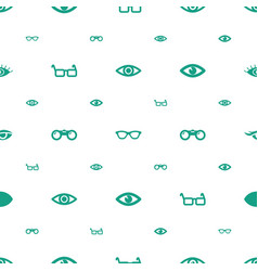 Sight icons pattern seamless white background vector