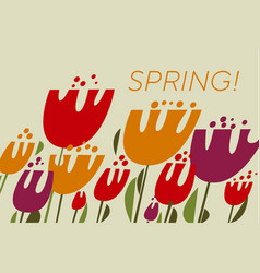 spring tulips color vector image