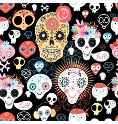 The pattern of skulls vector image