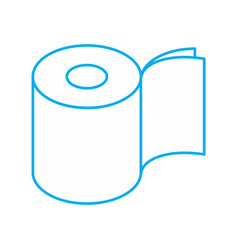 Toilet paper two layers roll icon symbol for vector