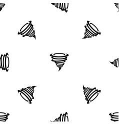 Tornado pattern seamless black vector