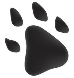 Trace dog black color vector