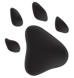 Trace dog of black color vector