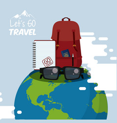 Travel journey and tourism icon vector