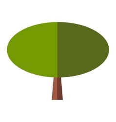 Tree flat sign vector image