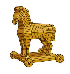 Trojan horse pop art vector