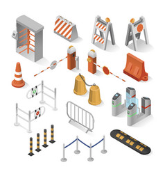urban security elements vector image
