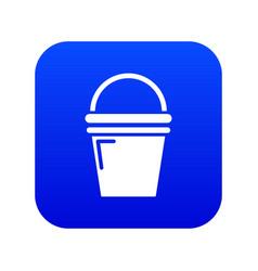 water bucket icon blue vector image