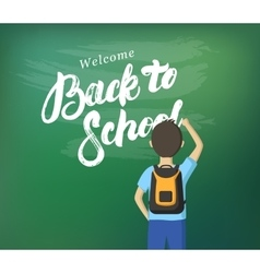 Welcome Back to School hand written lettering vector