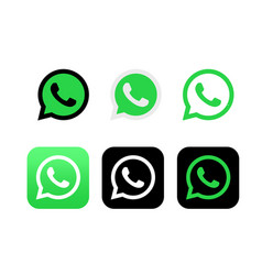Whatsapp editorial logo on white background vector