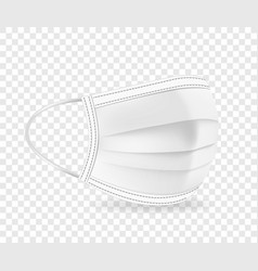 white protective face mask isolated vector image