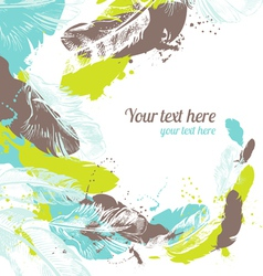 Abstract feather background vector image vector image