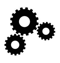 Black gear icon vector