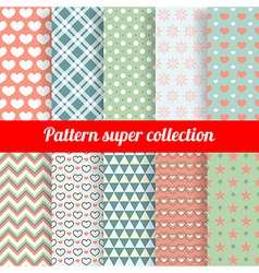 Collection of Chic Seamless patterns vector image