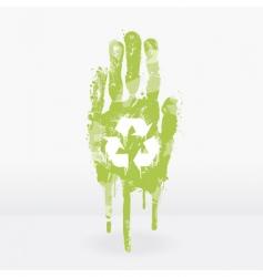 ecological hand design vector image