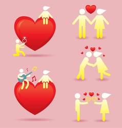 Human Symbol Love Story Concept vector image