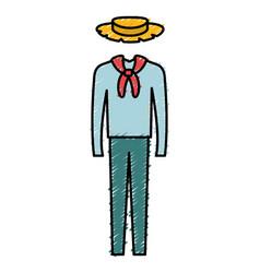 male typical farmer costume icon vector image