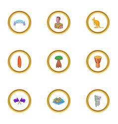 sydney icons set cartoon style vector image
