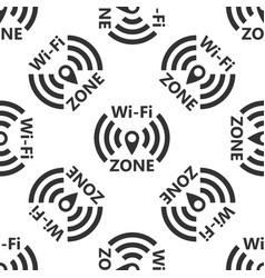 wi-fi network icon seamless pattern vector image vector image