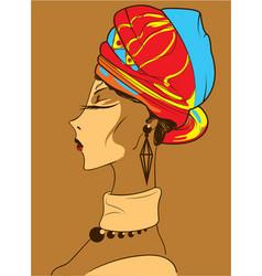 beautiful african woman vector image