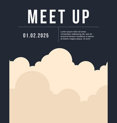 cool colorful background with cloud meet up card vector image