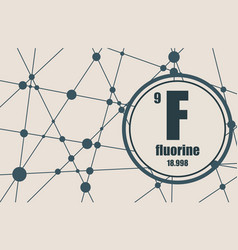 fluorine chemical element vector image vector image