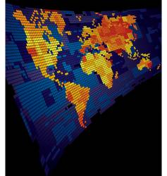 luminous world map vector image vector image