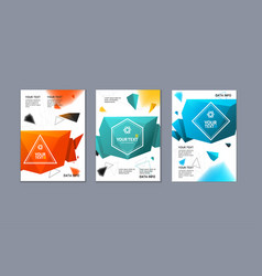 placard poster or flyer template set vector image vector image