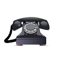 Black Telephone vector image vector image