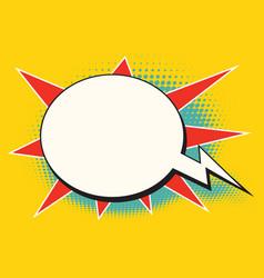 comic bubble bomb cloud vector image vector image