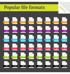 File formats vector image vector image
