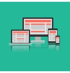 Responsive Design Concept vector image vector image