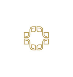abstract luxury logo design template vector image