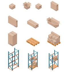 boxes and shelving vector image vector image