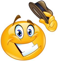 hat tip emoticon vector image vector image