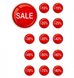 sale buttons vector image