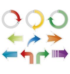 Set of colorful arrow symbols vector image vector image