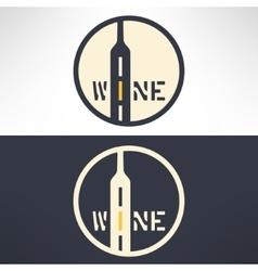 wine shop logo in modern flat design Wine vector image