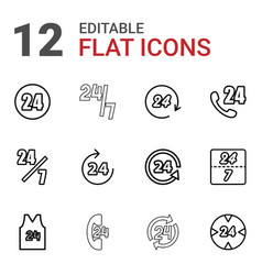 12 24 icons vector