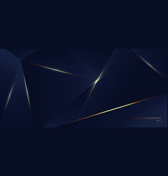 Abstract blue polygon triangles shape pattern vector