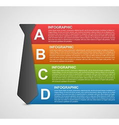 Abstract infographic options banner Design vector